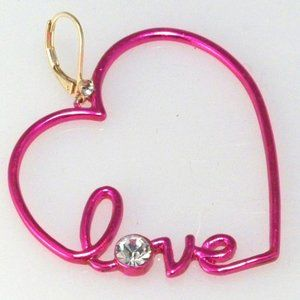 Betsey Johnson Love/Heart Earrings